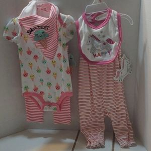 2-Outfit Lot Baby Girl